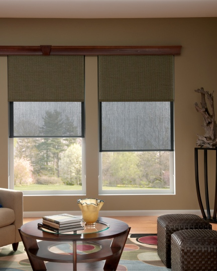 a modern solution for any room our and dual roller shades integrate a solar shade and blackout shade either of
